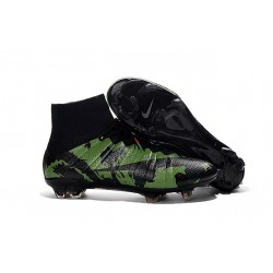 New Nike Mercurial Superfly IV FG Football Shoes Camo Black
