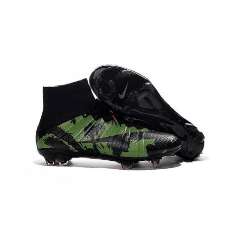 New Nike Mercurial Superfly IV FG Football Shoes Camo Black