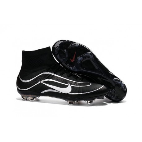 Best Nike Men's Mercurial Superfly IV Heritage FG Football Cleats Black Silvery
