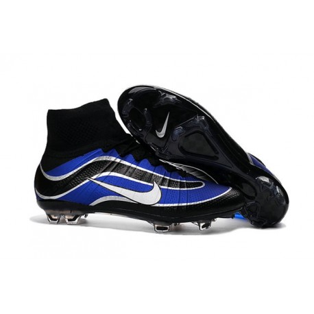 Nike Mercurial Superfly Heritage FG Soccer Boots - Shoes For Men Blue Black Silvery White
