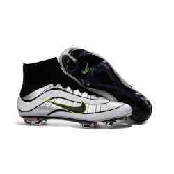 Nike Men's 2016 - Mercurial Superfly Heritage FG Soccer Shoes Silvery Black Volt