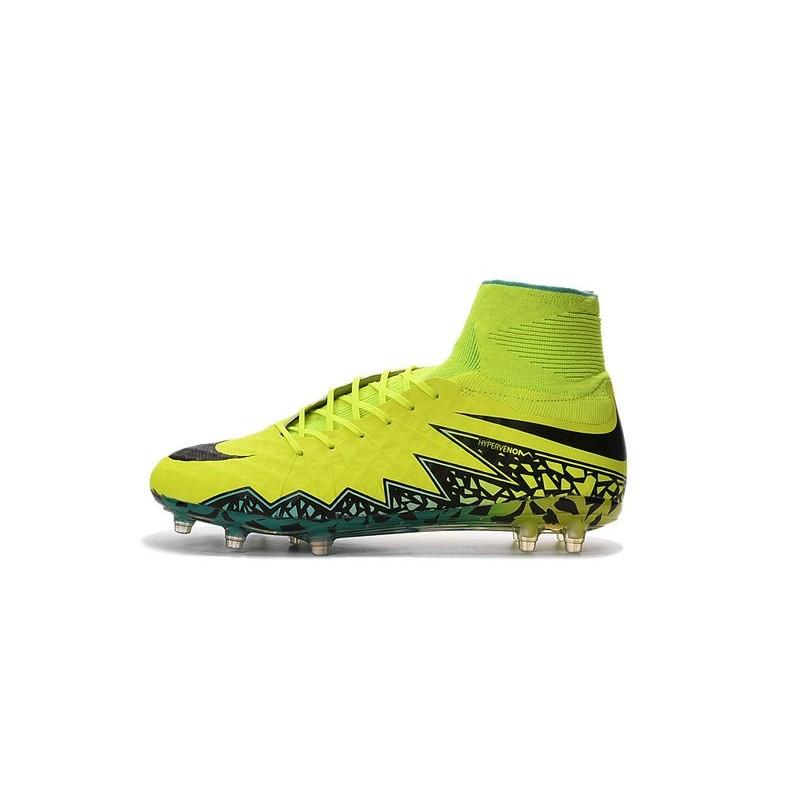 New Soccer Cleats Nike HyperVenom Phantom 2 FG Volt Black