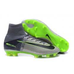 Nike Soccer Cleats - Nike Mercurial Superfly V FG Grey Black Green