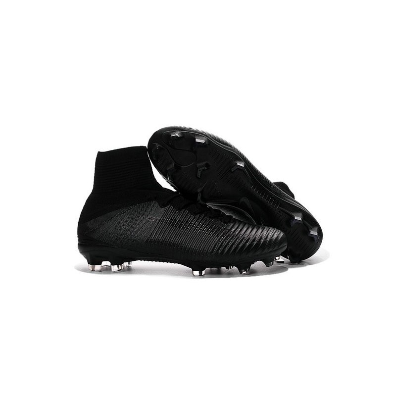 football boots for men nike mercurial superfly 5 fg all black. Black Bedroom Furniture Sets. Home Design Ideas