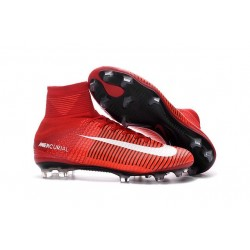 Nike Soccer Cleats - Nike Mercurial Superfly V FG Red White Black