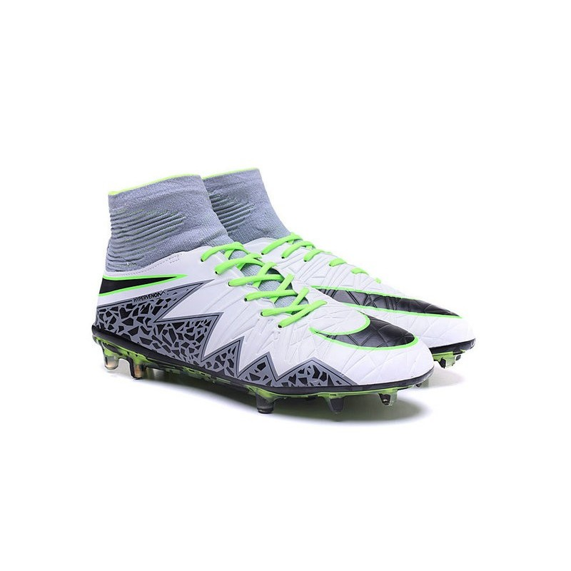 dffea4a20 Nike HyperVenom Phantom II FG Men s Firm-Ground Soccer Cleats White Green  Grey Black