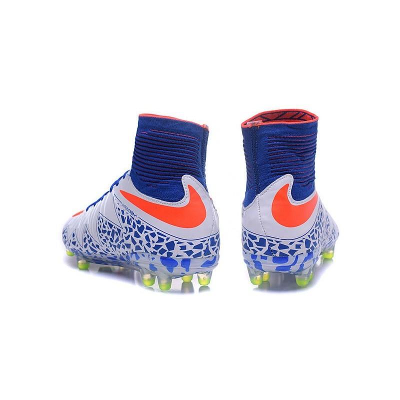 8de0fe644 Nike HyperVenom Phantom II FG Men's Firm-Ground Soccer Cleats Blue White  Orange