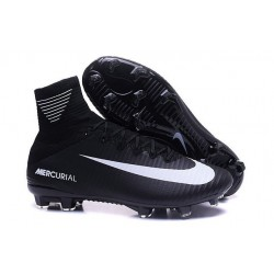 Football Boots For Men Nike Mercurial Superfly 5 FG Black White