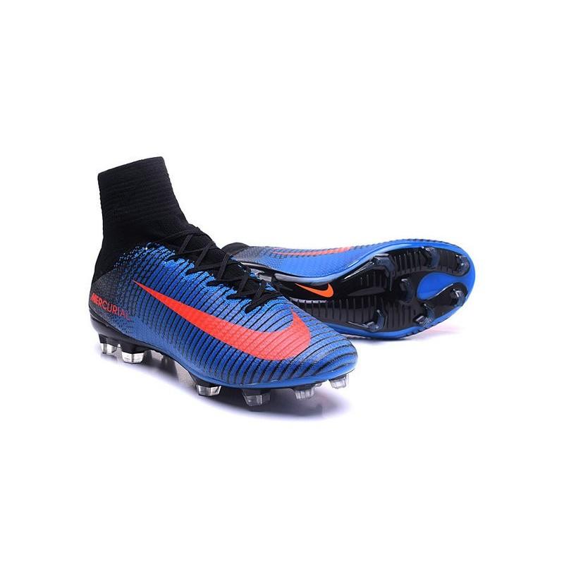 0dc97456c5d Nike Soccer Cleats - Nike Mercurial Superfly V FG Blue Black Orange