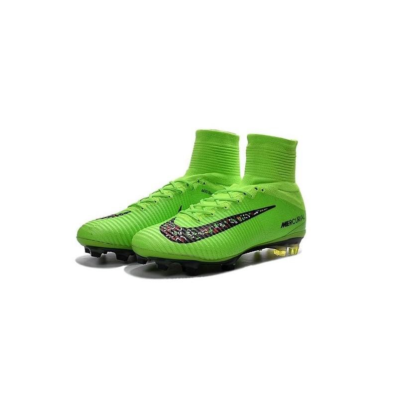 nike soccer cleats nike mercurial superfly v fg green black