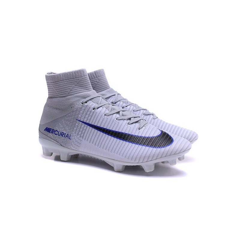 a08df705f450e Nike Soccer Cleats - Nike Mercurial Superfly V FG White Grey Black
