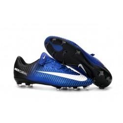 2016 New Shoes - Nike Mercurial Vapor XI FG Blue White Black