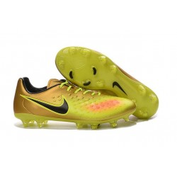 Nike Magista Opus II FG - New Football Shoes Gold Volt Black