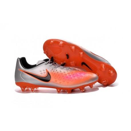 Nike Magista Opus II FG - New Football Shoes Silver Orange Black