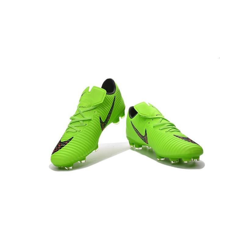 fed04a9603c hot nike mercurial victory xi fg grey fluorescent green 8963e de9db