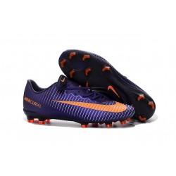 Men's Football Cleats Nike Mercurial Vapor XI FG Violet Orange