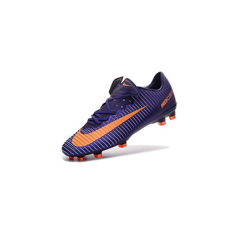 d35a10a816a9 Men's Football Cleats Nike Mercurial Vapor XI FG Violet Orange
