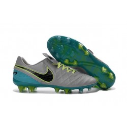 New Shoes - Nike Tiempo Legend VI FG Soccer Cleats Wolf Grey Black Clear Jade