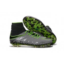New Soccer Cleats Nike HyperVenom Phantom 2 FG Pure Platinum Black Ghost Green