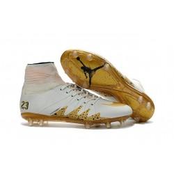 Nike HyperVenom Phantom II FG Men's Firm-Ground Soccer Cleats Neymar x Jordan White Gold