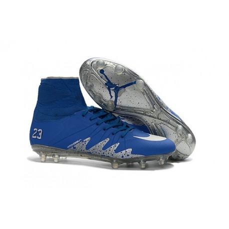 2016 Nike HyperVenom Phantom II FG FG Football Boots Neymar x Jordan Blue Silver