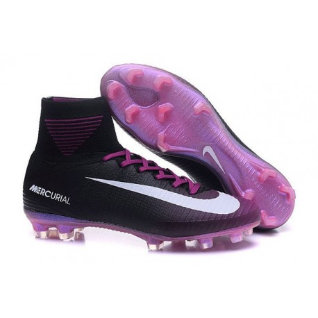 Football Boots For Men Nike Mercurial Superfly 5 FG Black Violet White