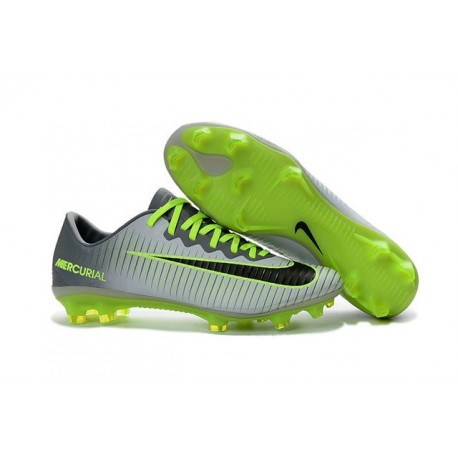 Men's Football Cleats Nike Mercurial Vapor XI FG Pure Platinum Black Ghost Green