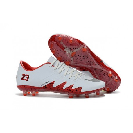 official photos f2121 e1ae8 Best Football Shoes Nike HyperVenom Phinish FG Neymar x Jordan White Red