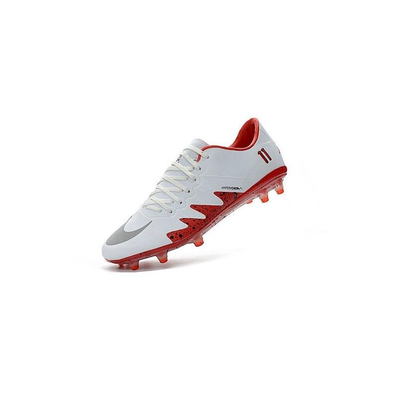 official photos 34ea1 9a6eb Best Football Shoes Nike HyperVenom Phinish FG Neymar x Jordan White Red