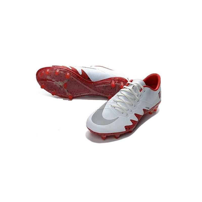 3dfbbc1fcd17 Best Football Shoes Nike HyperVenom Phinish FG Neymar x Jordan White Red