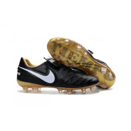 New Shoes - Nike Tiempo Legend VI FG Soccer Cleats Black White Gold