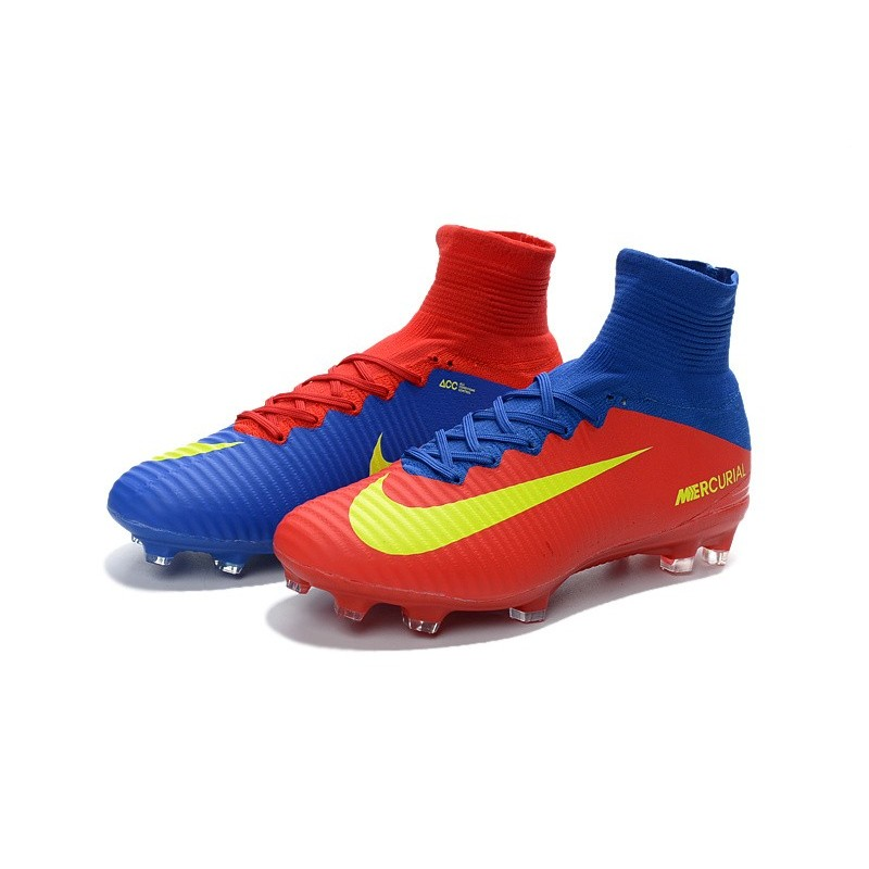 990926b3d163 Football Boots For Men Nike Mercurial Superfly 5 FG Blue Red Yellow