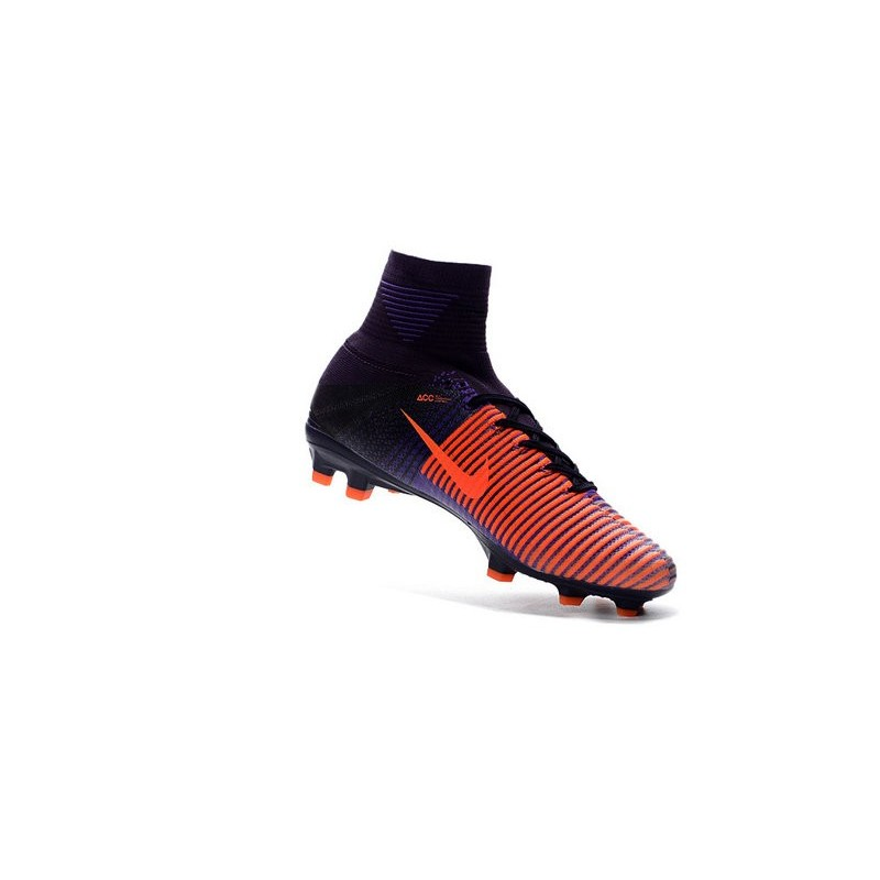 Nike Soccer Cleats - Nike Mercurial Superfly V FG Purple Dynasty Bright  Citrus Hyper Grape