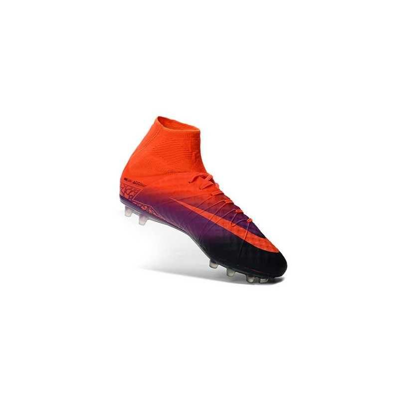 Nike HyperVenom Phantom II FG Men s Firm-Ground Soccer Cleats Total Crimson  Obsidian Vivid Purple a3b1ced747687