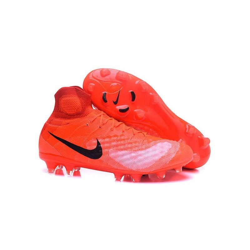 New Nike Shoes - Nike Magista Obra II FG Soccer Boots Orange Black cbf9bcca9851f