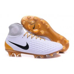 New Nike Shoes - Nike Magista Obra II FG Soccer Boots White Gold