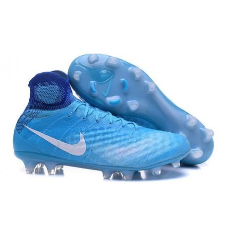 124bff926 New Nike Shoes - Nike Magista Obra II FG Soccer Boots Bleu Blanc