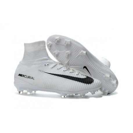 Football Boots For Men Nike Mercurial Superfly 5 FG White Black