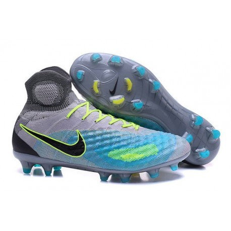 New Nike Shoes - Nike Magista Obra II FG Soccer Boots Pure Platinum Black Ghost Green