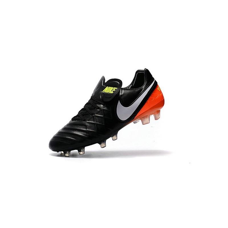 Nike Tiempo Legend VI FG Soccer Cleats for Men Black White