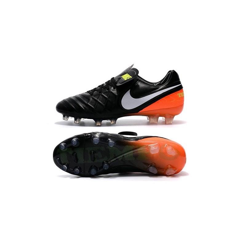 3ba128c5c Nike Tiempo Legend VI FG Soccer Cleats for Men - Black White Hyper Orange  Volt