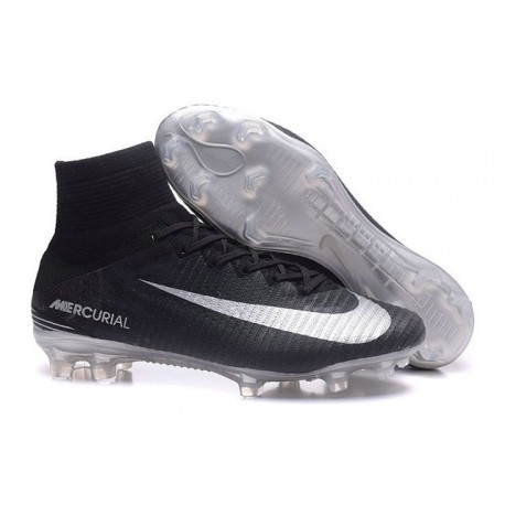 Nike Soccer Cleats - Nike Mercurial Superfly V FG Black Silver
