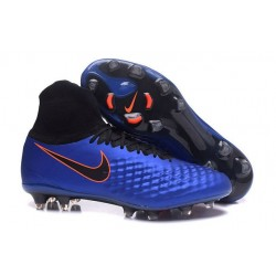 Nike Magista Obra II FG Men's Firm-Ground Soccer Cleats Blue Black Orange