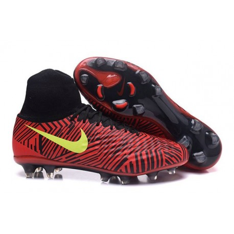 2016 Nike Magista Obra II FG FG Football Boots Black Red Yellow