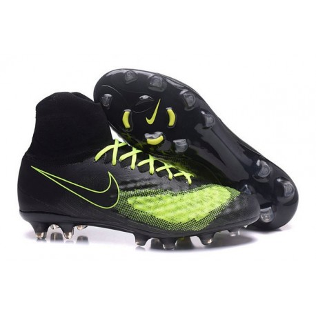 2016 Nike Magista Obra II FG FG Football Boots Black Volt