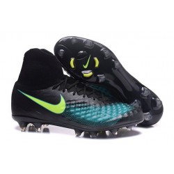 2016 Nike Magista Obra II FG FG Football Boots Black Blue Green