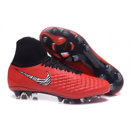 Nike Magista Obra II FG Men's Firm-Ground Soccer Cleats Red Black
