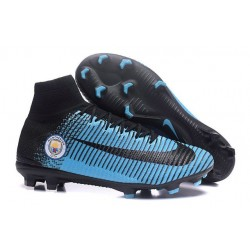 Football Boots For Men Nike Mercurial Superfly 5 FG Manchester City FC Black Blue