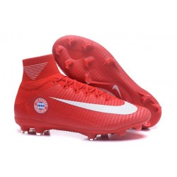 Nike Soccer Cleats - Nike Mercurial Superfly V FG FC Bayern München Red White