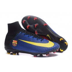 Nike Soccer Cleats - Nike Mercurial Superfly V FG Barcelona FC Blue Red Yellow Black